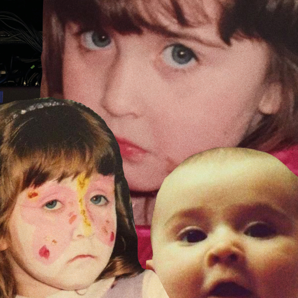 Collage of three baby pictures of the author.